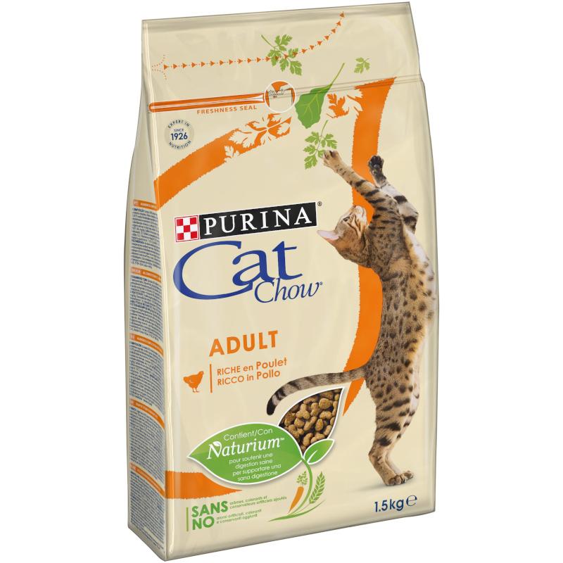 Сухой корм для кошек с птицей CAT CHOW, 1. 5 кг