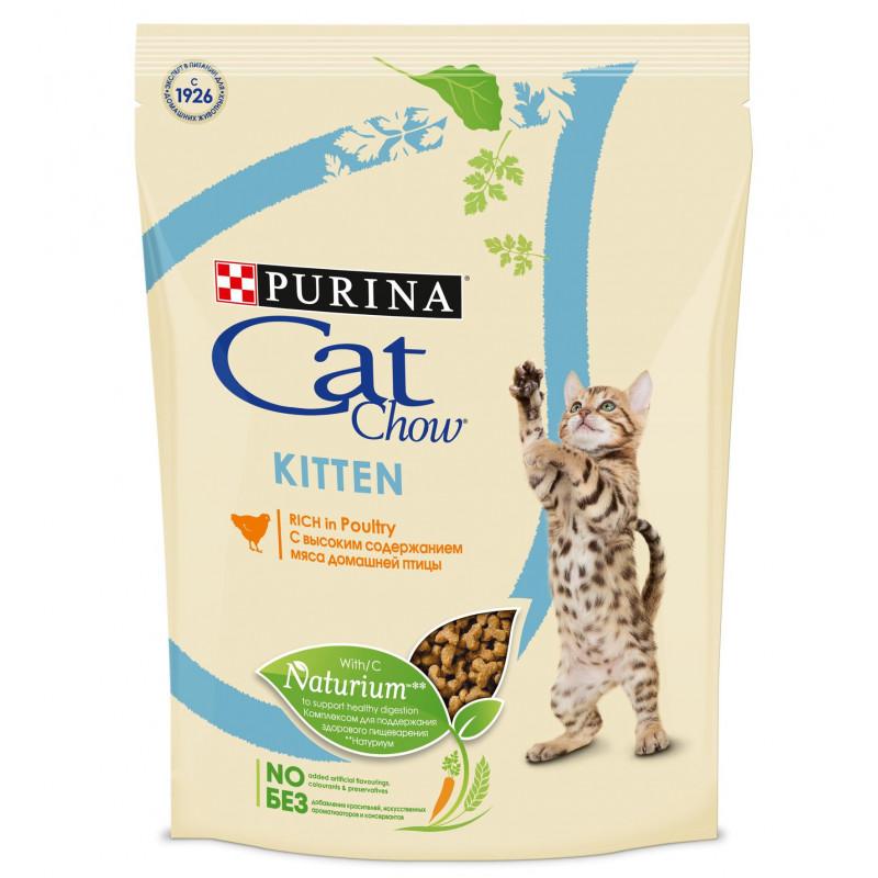 Сухой корм для котят CAT CHOW птица