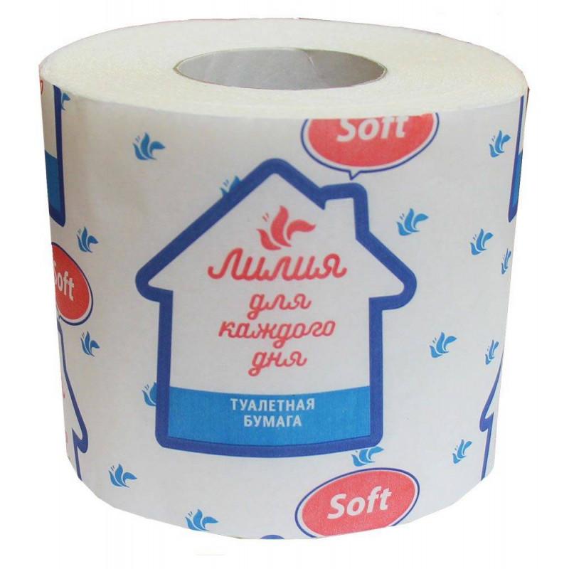 Туалетная бумага «Лилия Soft» белая, 1шт