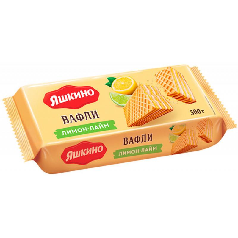 """Вафли """"Яшкино"""" лимон-лайм, 300гр"""