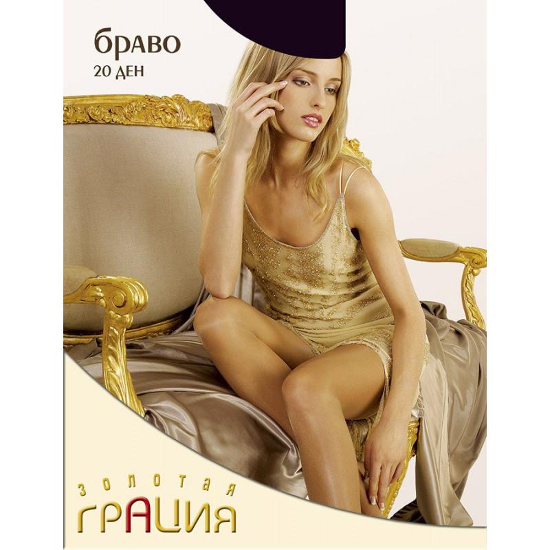 Колготки женские элитная серия Грация Браво 20den цвет черный 4 размер, 1шт