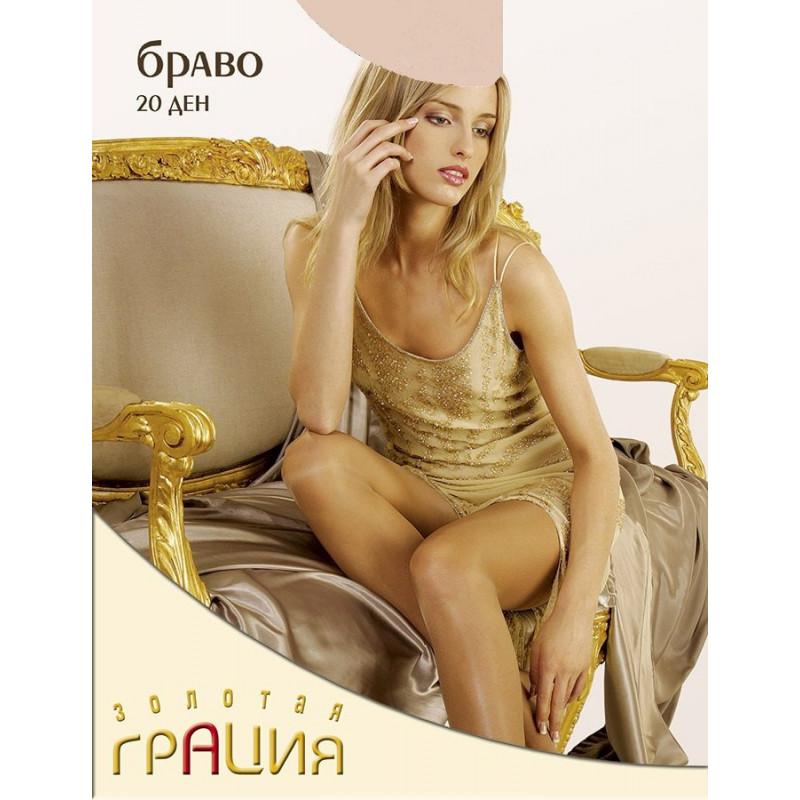 Колготки женские элитная серия Грация Браво 20den цвет телесный 2 размер, 1шт