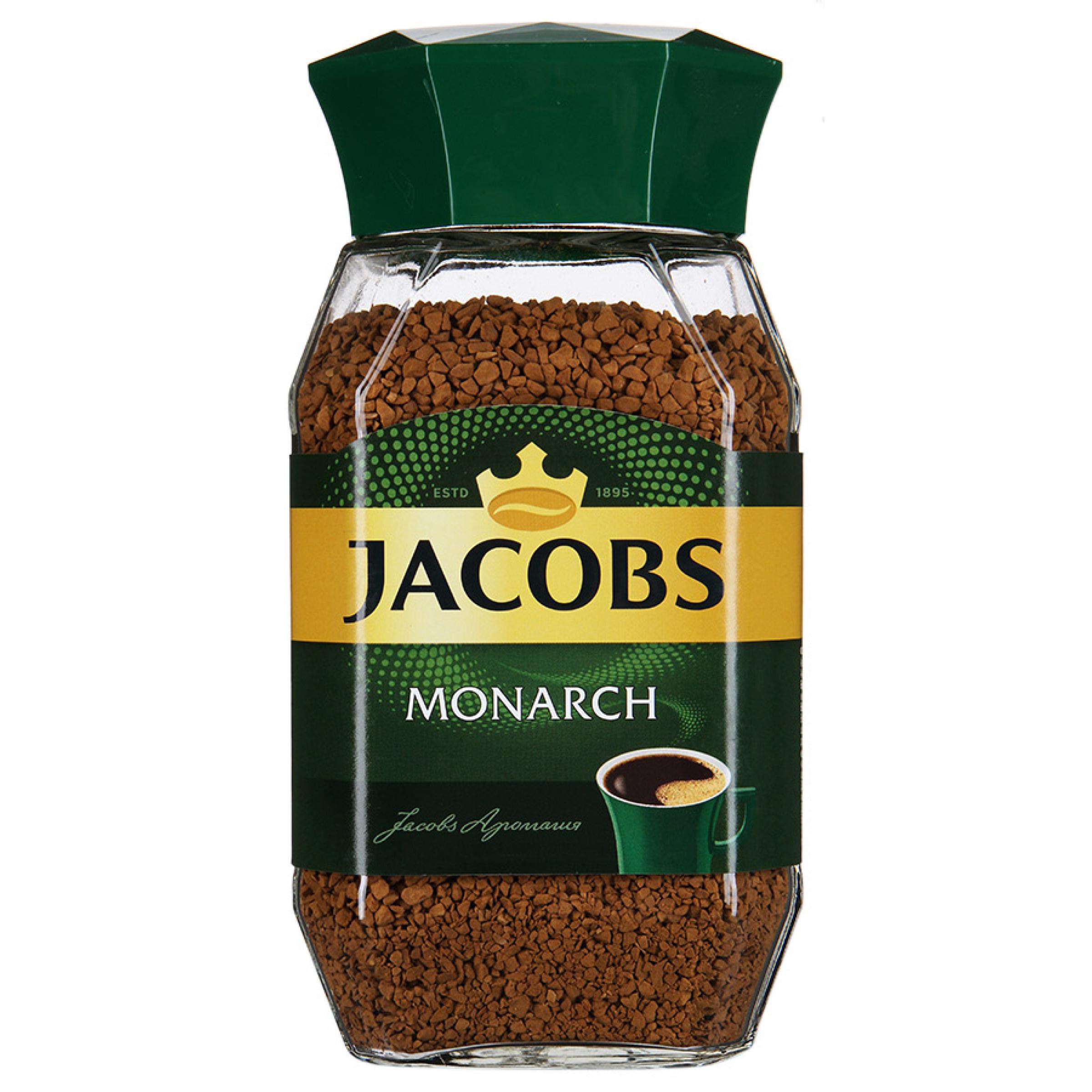 Кофе Jacobs Monarch натуральный растворимый сублимированный, 47,5гр