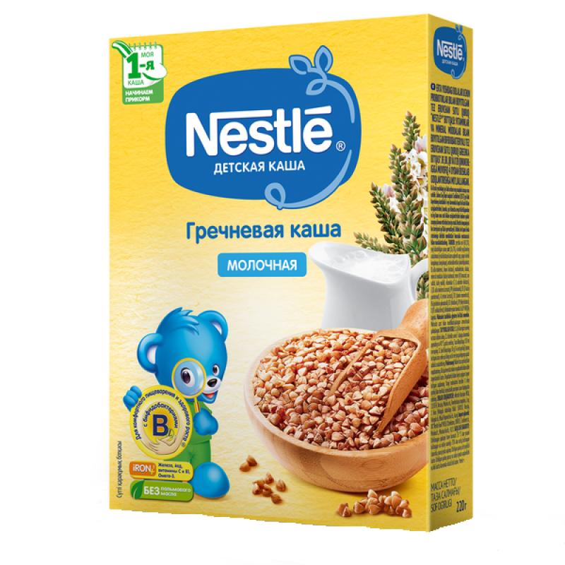 Каша Nestle Гречневая молочная для детей c 4 месяцев 1 ступень, 220гр