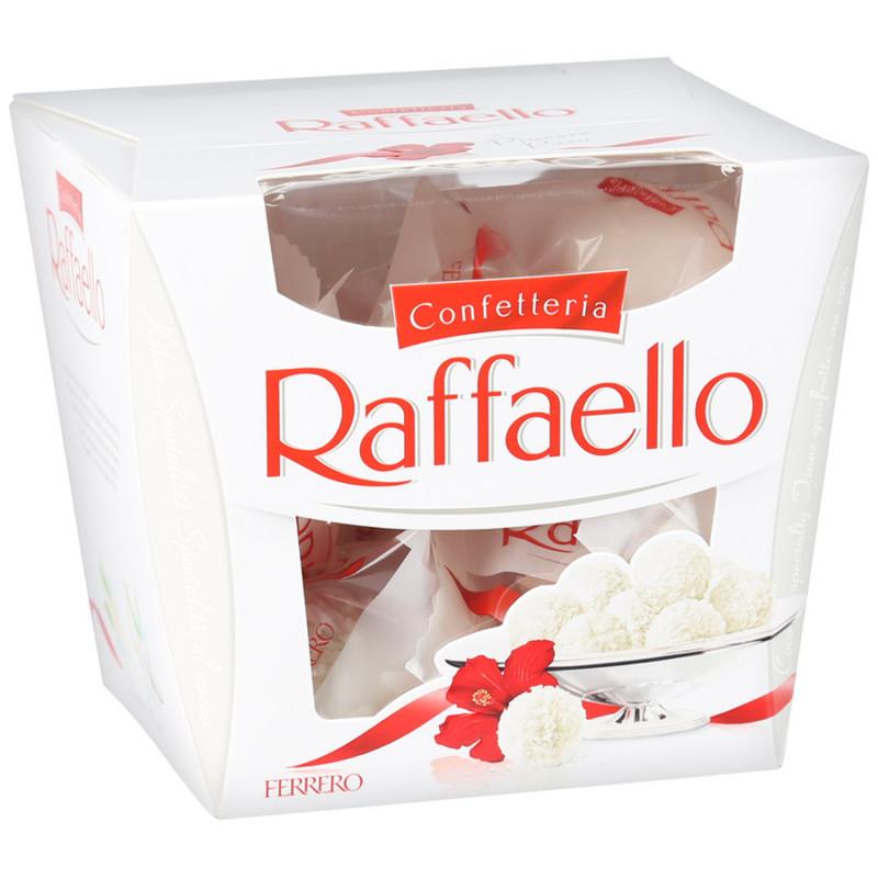 Конфеты Raffaello с цельным миндальным орехом, 150гр