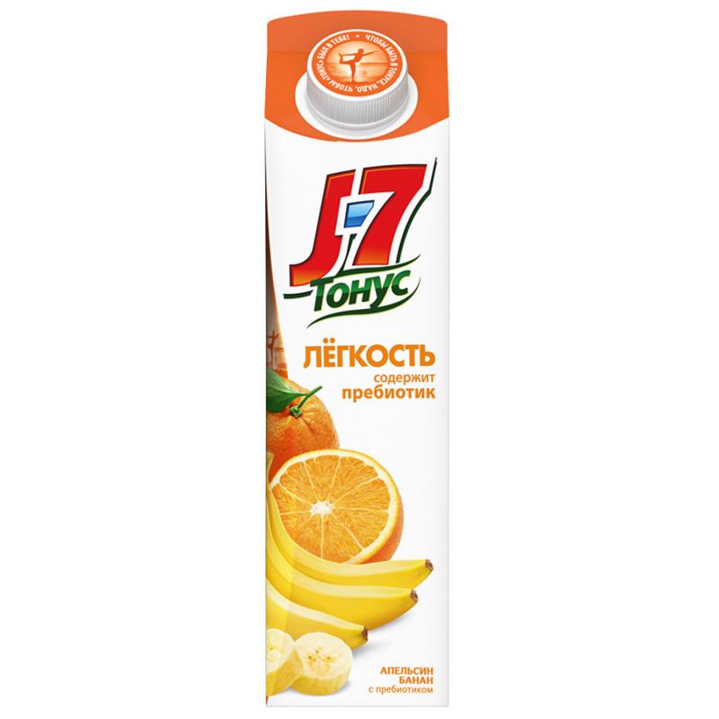 Нектар J7 Тонус Легкость апельсин и банан с пребиотиком для детского питания, 0, 9л