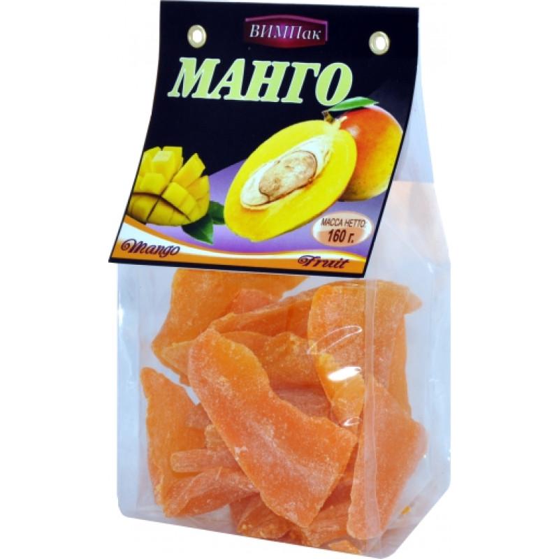 Сушеные листики манго ВИМПак, 160гр