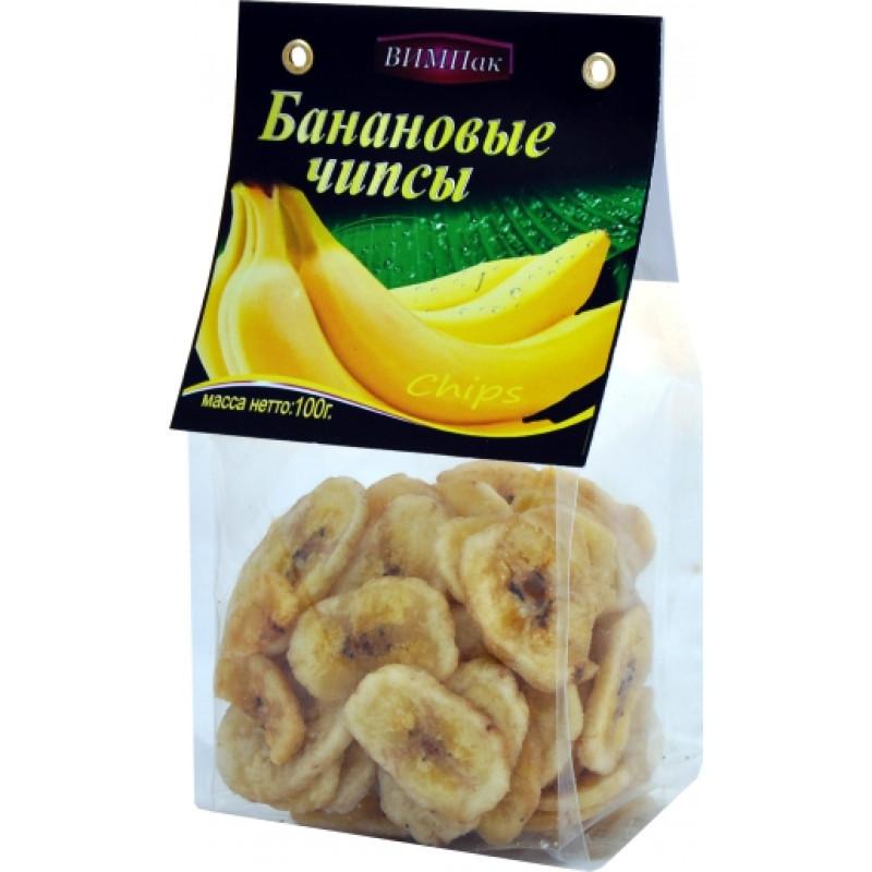 Банановые чипсы ВИМПак, 100гр