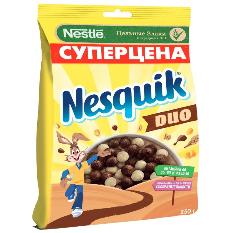 """Готовый шоколадный завтрак, обогащенный витаминами и минеральными веществами """"NESQUIK"""", 250гр"""