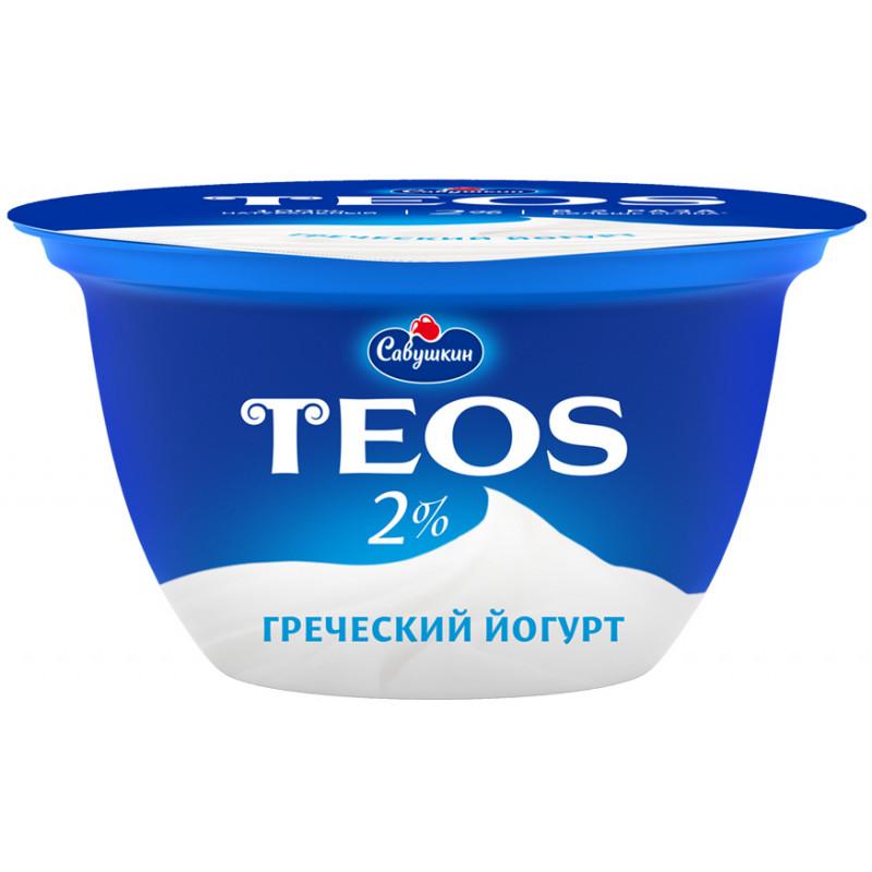 """Йогурт 2% """"Греческий TEOS"""" Савушкин продукт, 140гр."""