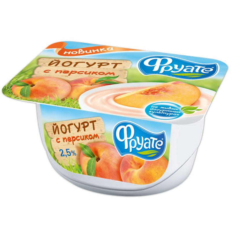 Йогурт густой Фруате с персиком 2, 5%, 125 гр