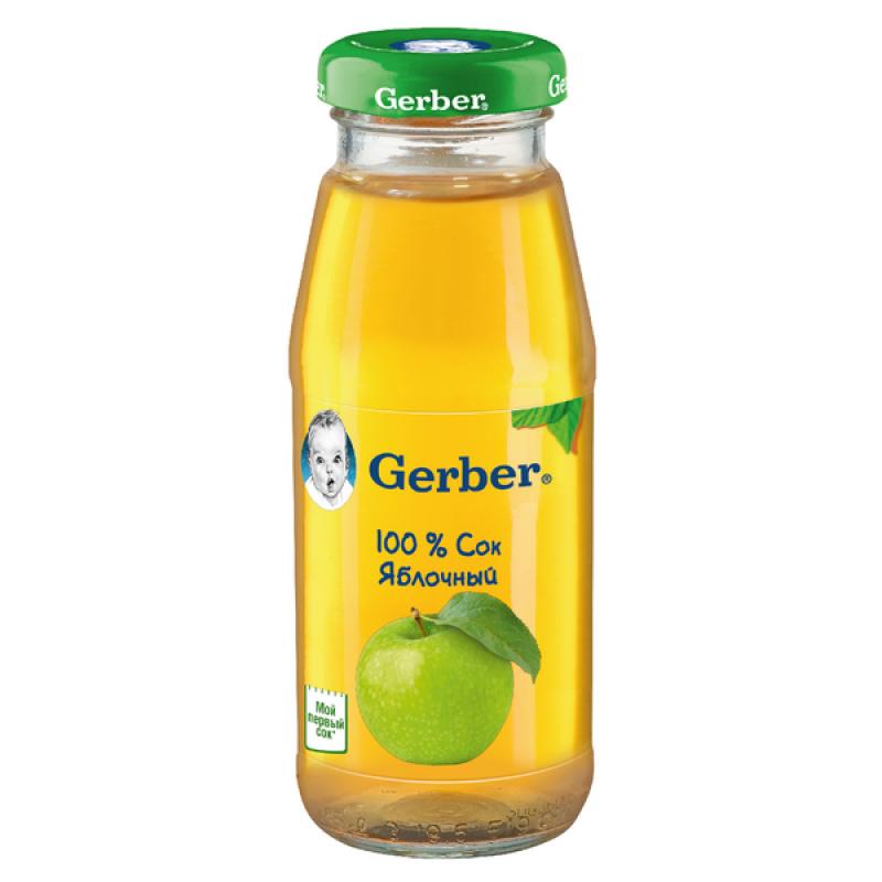 Сок Gerber яблочный осветленный, 175 мл