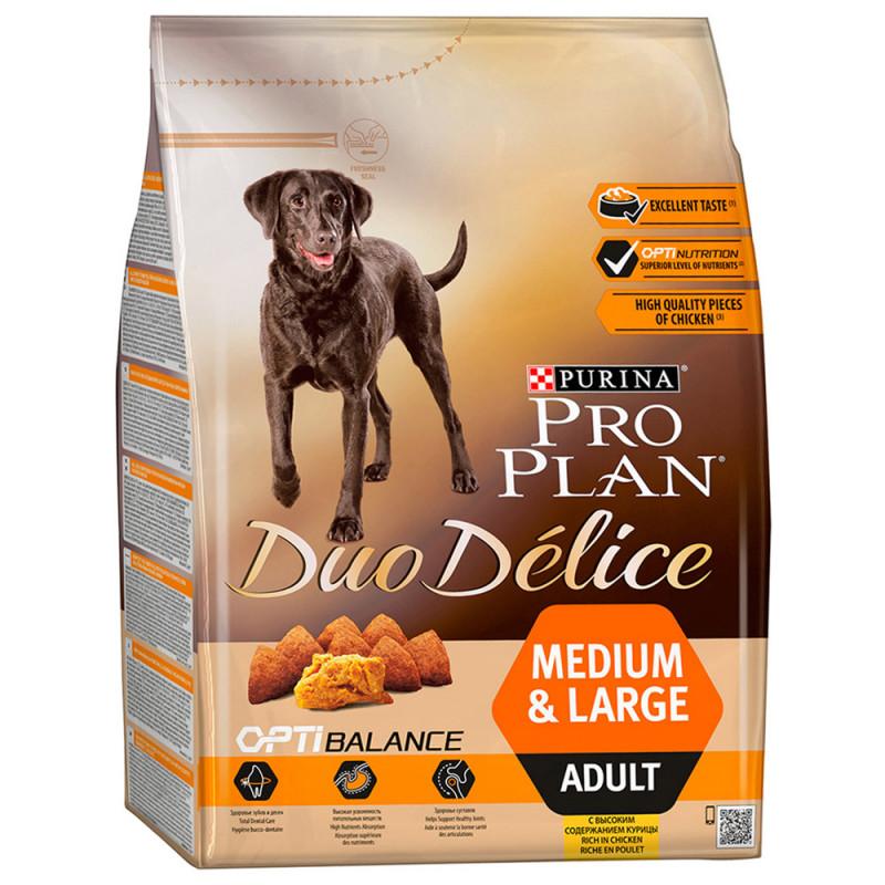 Сухой корм Pro Plan Duo Delice для взрослых собак с курицей и рисом, 2, 5 кг