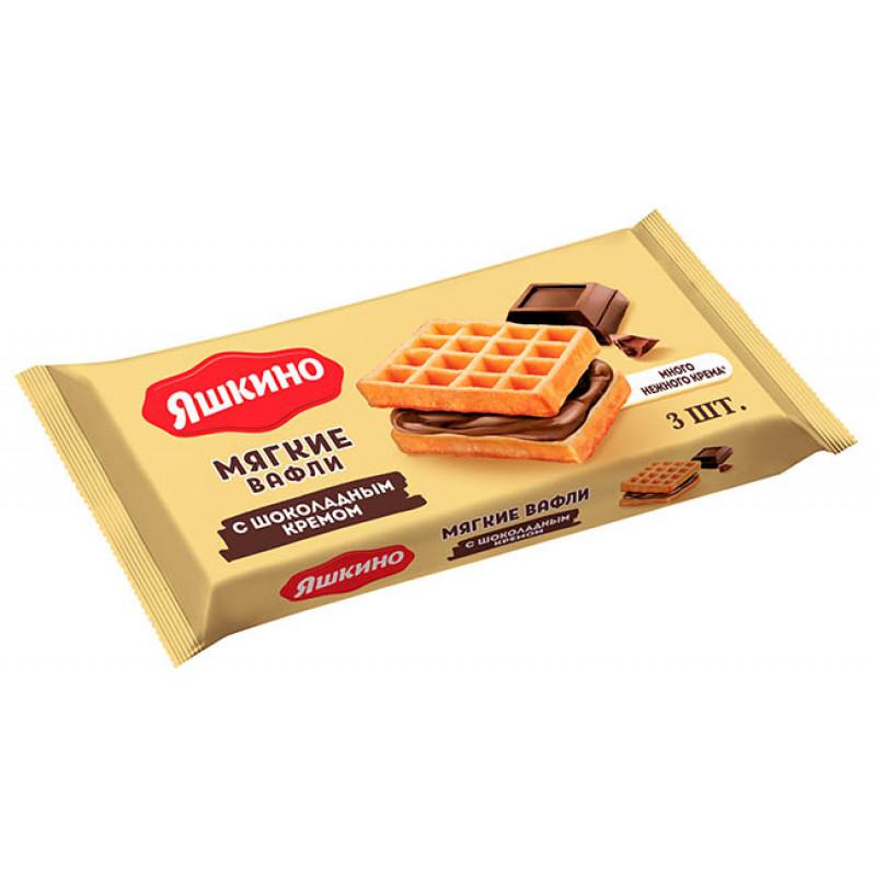 Вафли мягкие с шоколадной начинкой Яшкино, 120гр