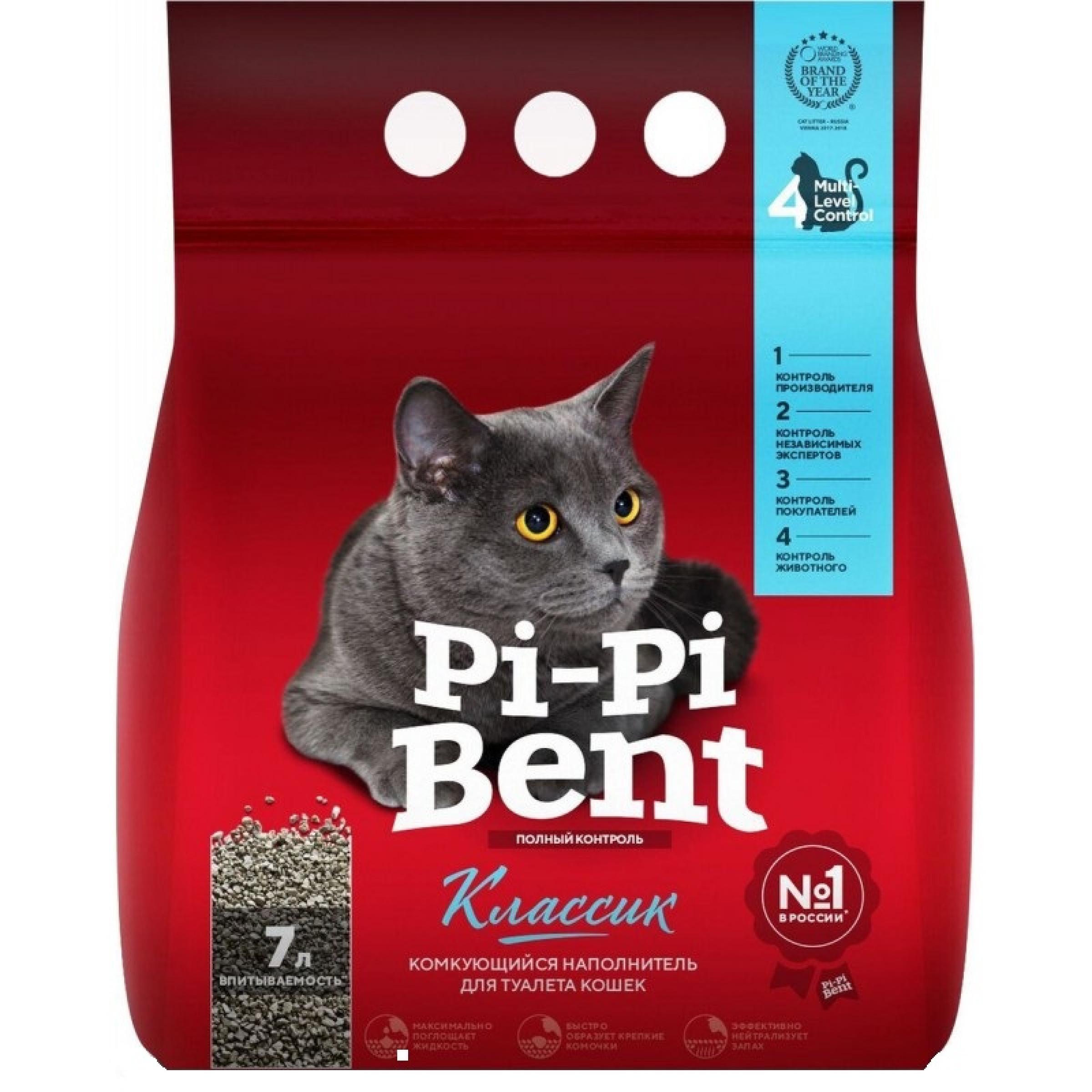 Наполнитель Pi-Pi Bent Classic комкующийся, 3 кг