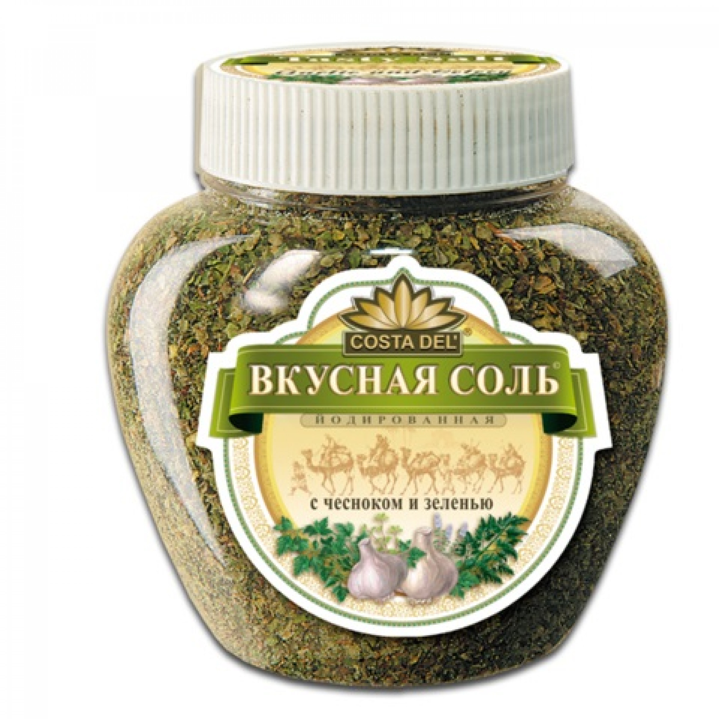 Вкусная соль с чесноком и зеленью, 400гр