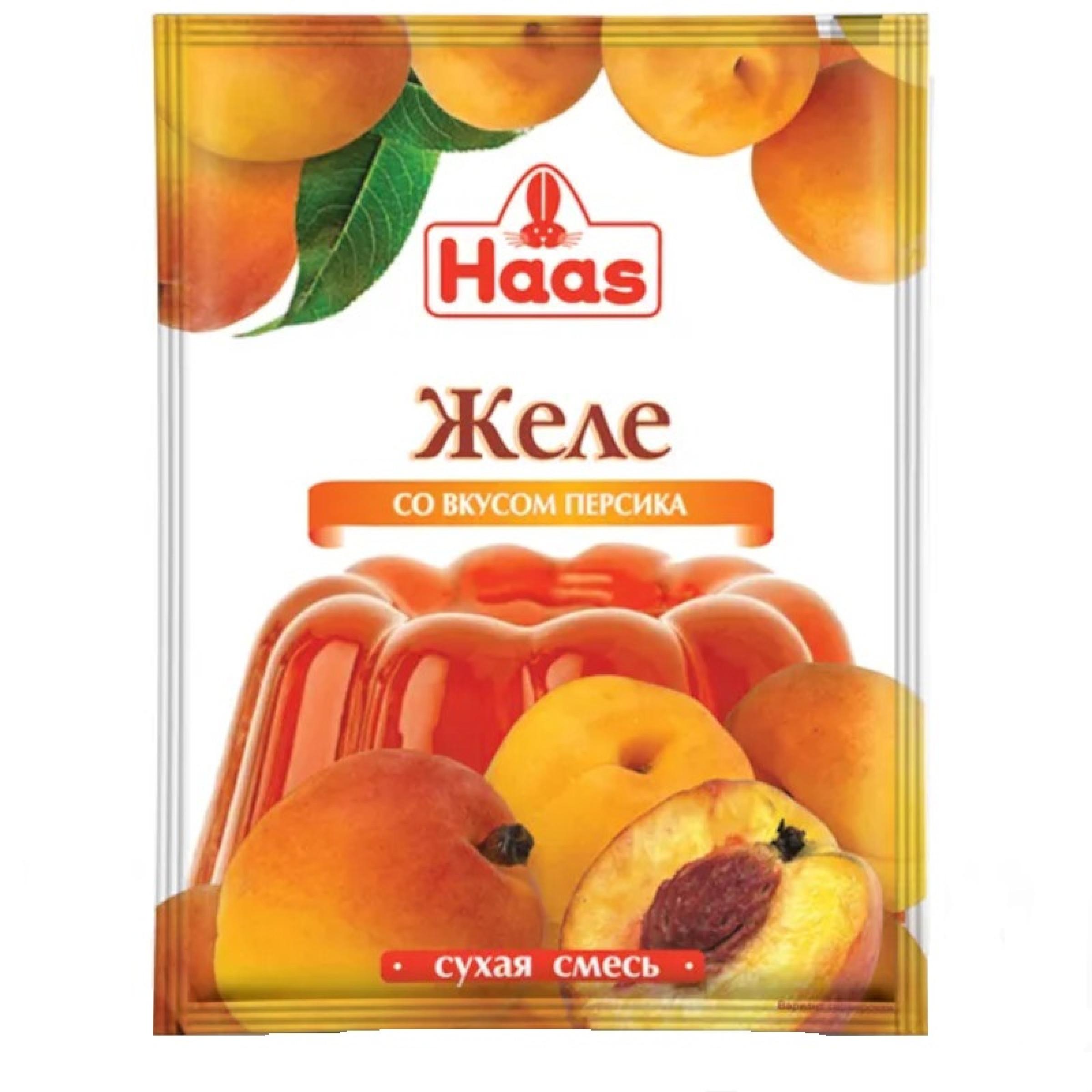 Желе десертное Haas персик, 50гр