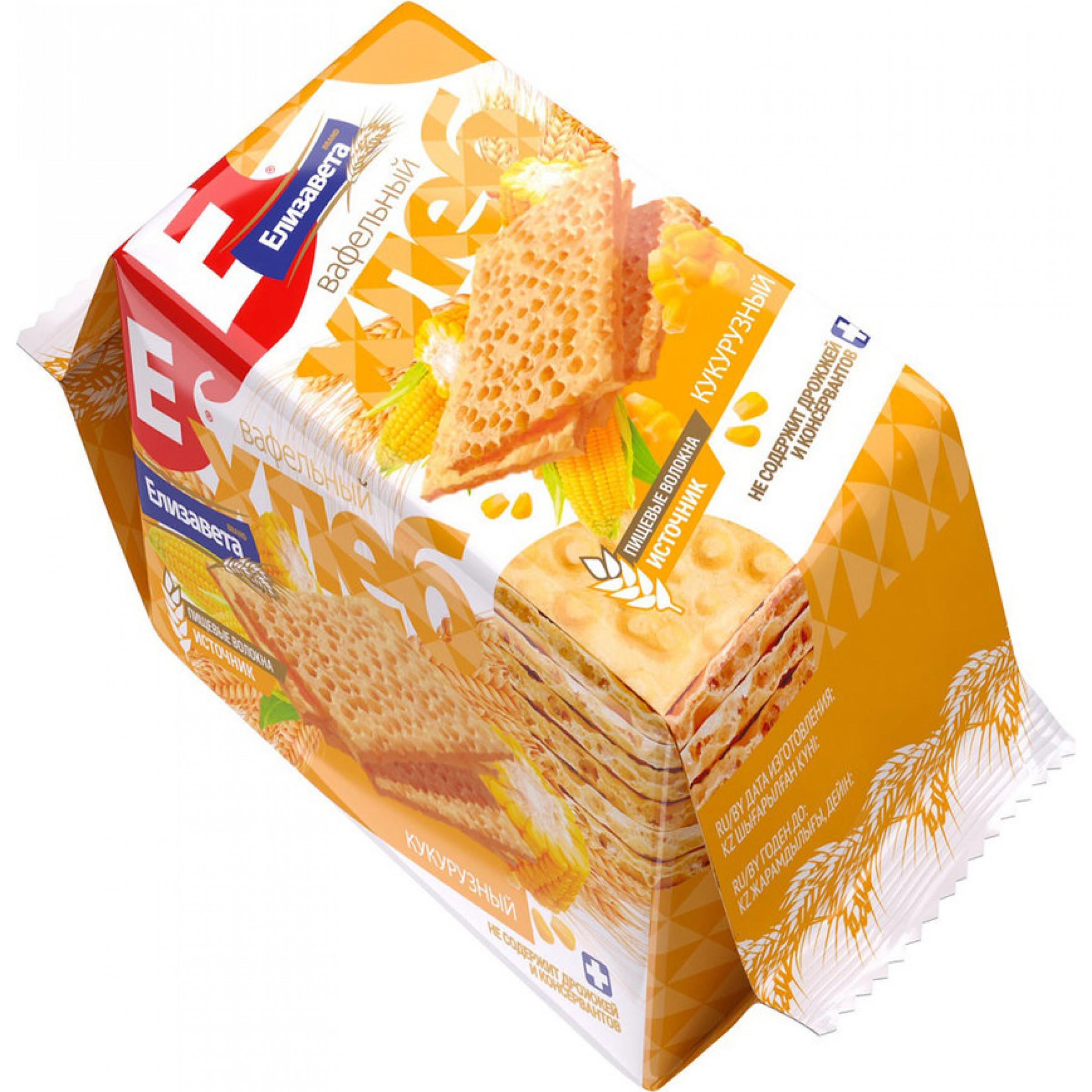 Вафельный хлеб Елизавета Кукурузный, 80гр