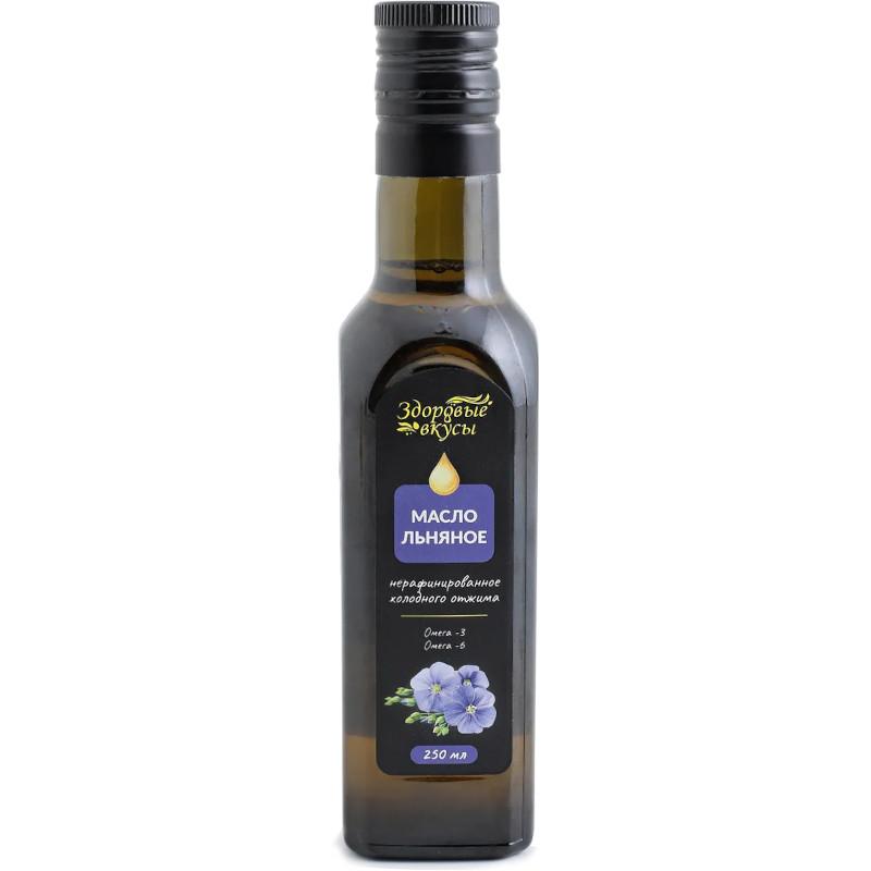 """Масло льняное """"Здоровые вкусы"""", 250мл"""