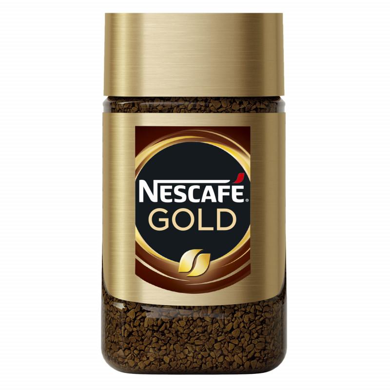 Кофе NESCAFE® Gold. Натуральный растворимый сублимированный с добавлением натурального жареного молотого кофе, 47, 5 гр