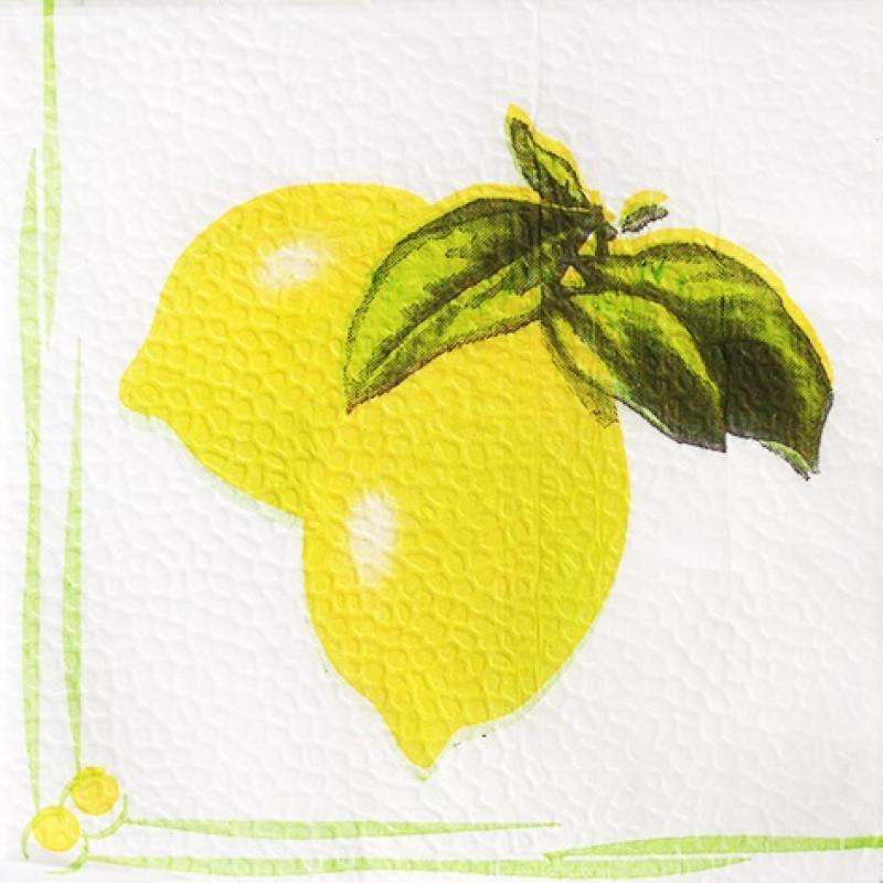 Салфетки бумажные Лилия сервировочные лимон, 100 листов