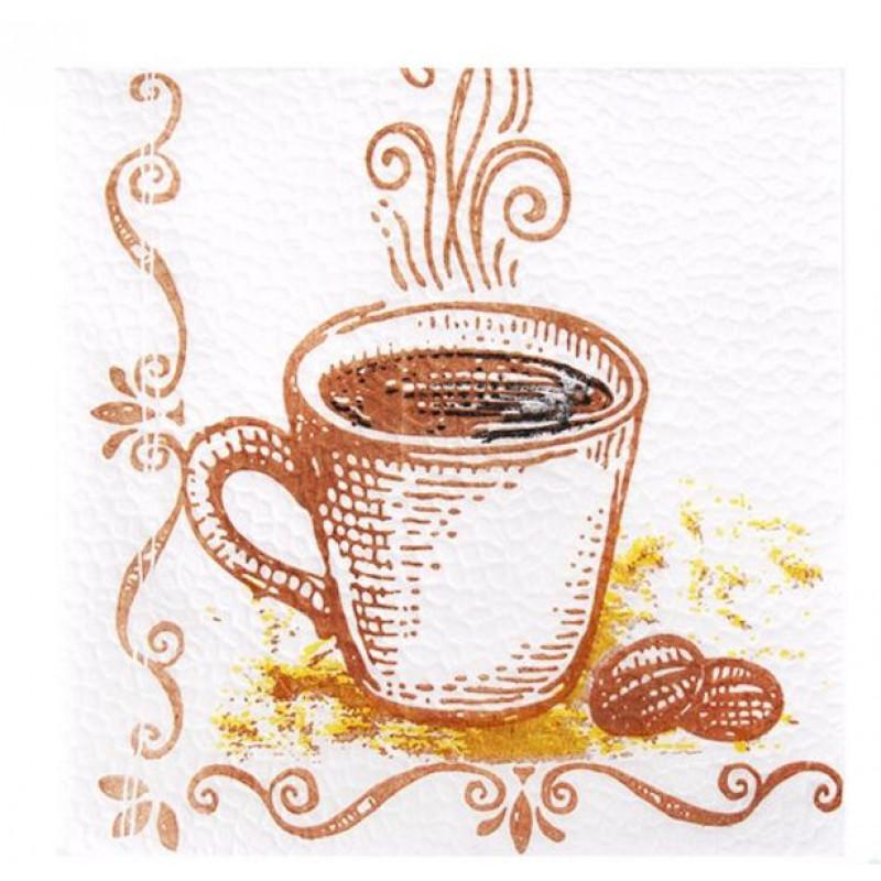 Салфетки бумажные Лилия сервировочные кофе, 100 листов
