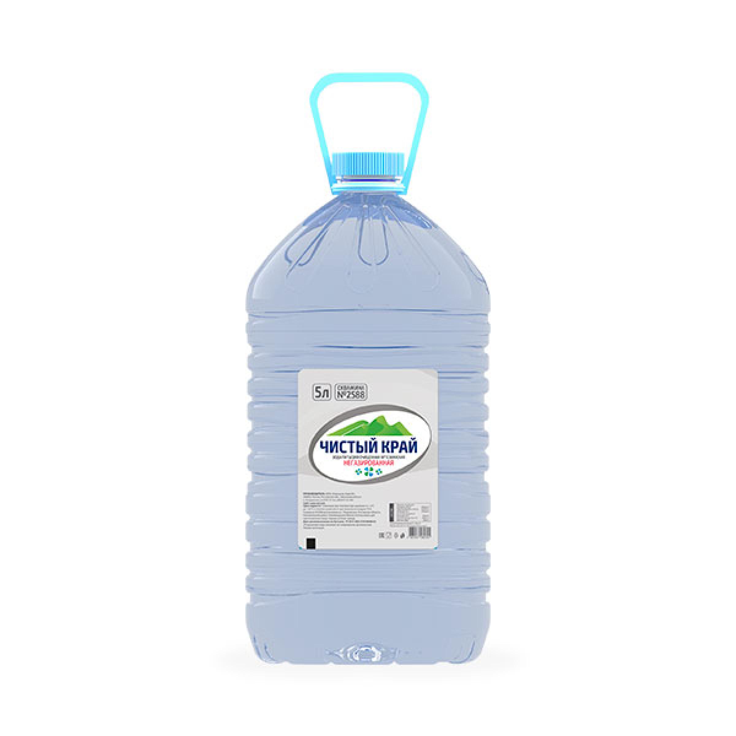 Питьевая вода ЧИСТЫЙ КРАЙ негазированная, 5л