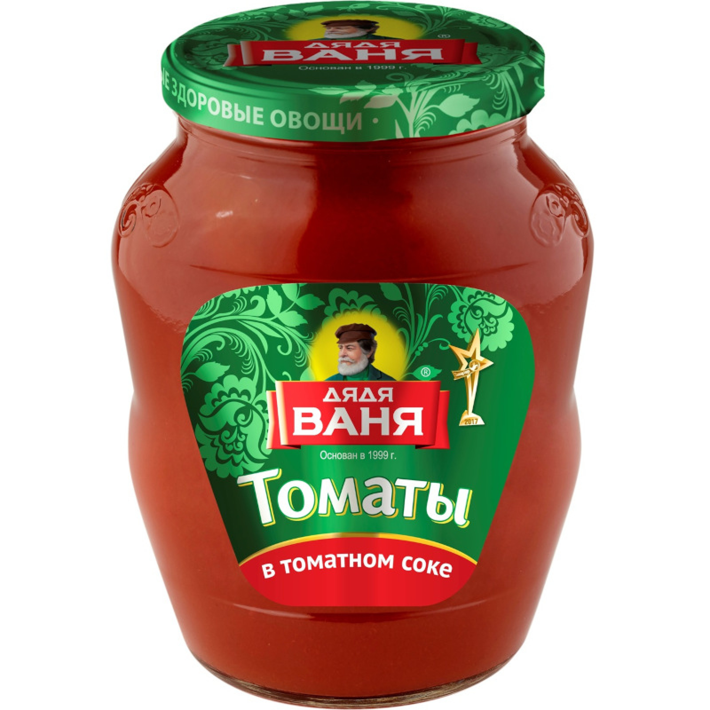 Томаты в томатном соке неочищенные Дядя Ваня, 680гр