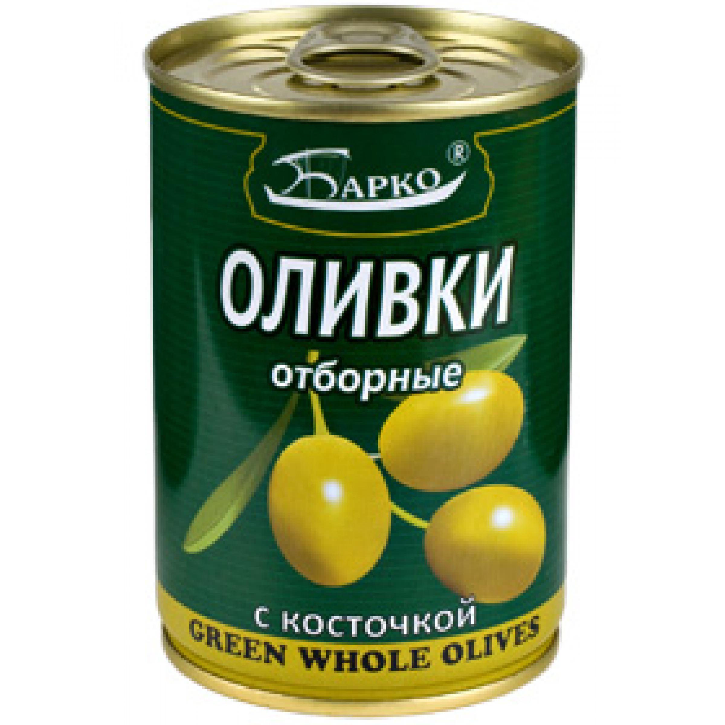 """Оливки с косточкой """"БАРКО"""",  280гр"""