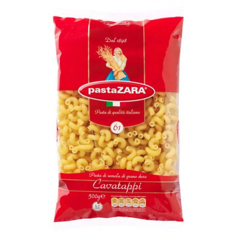 Макаронные изделия Pasta ZARA №61 рожок витой, 0, 5кг
