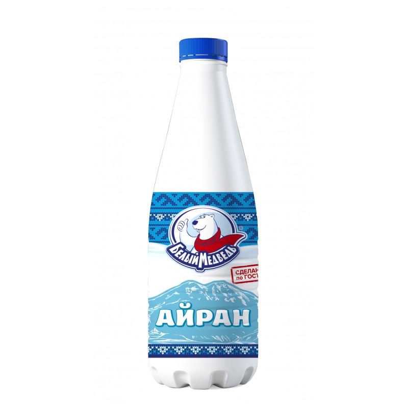 Напиток кисломолочный Айран Белый Медведь, 1л