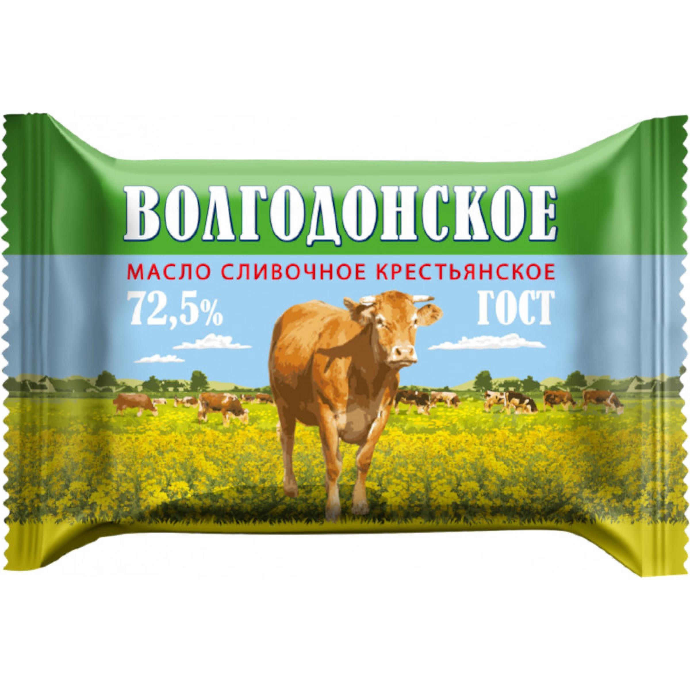"""Масло сливочное """"Белый Медведь"""" Волгодонское 72,5%, 180 г"""