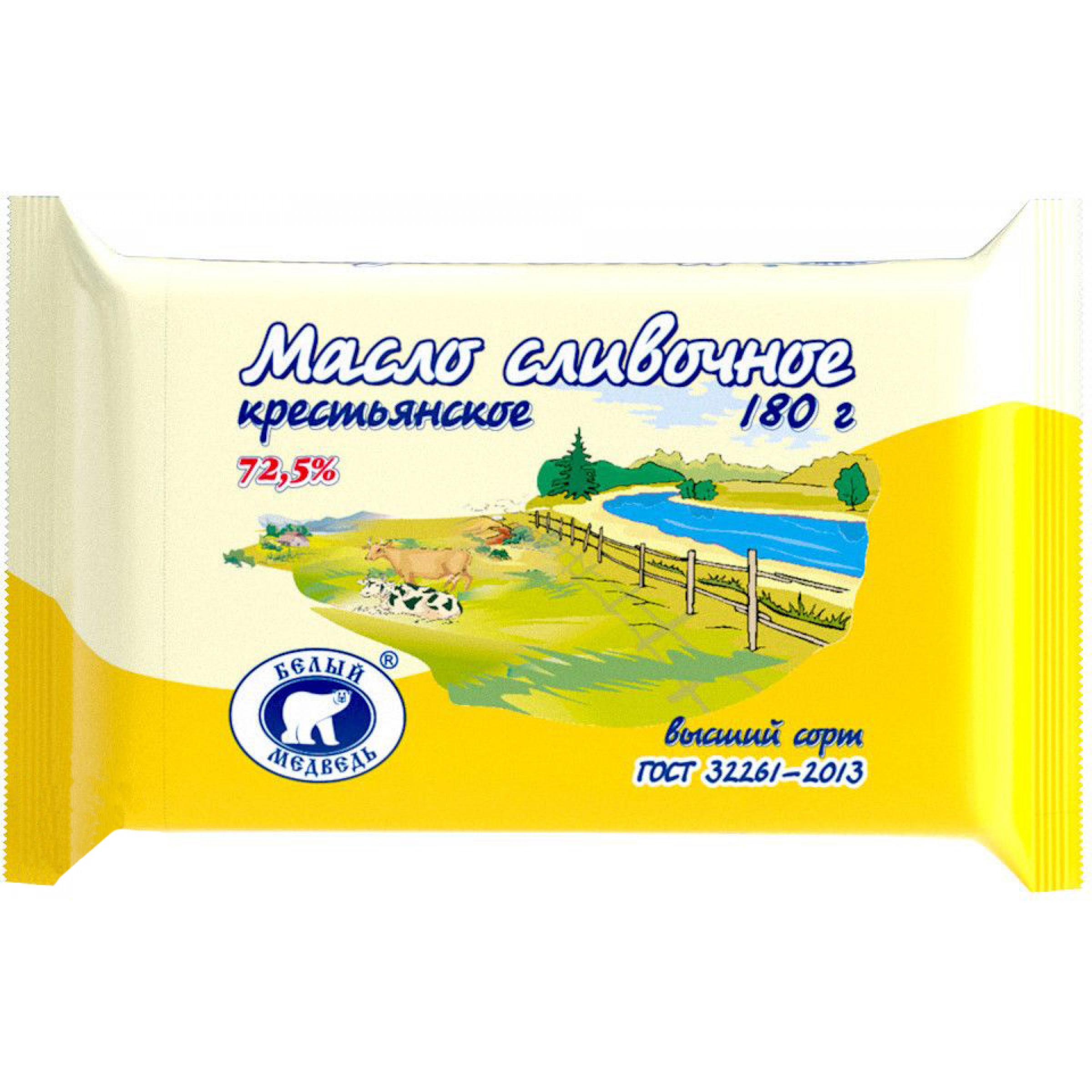 """Масло """"Крестьянское"""" 72, 5%, 180гр."""
