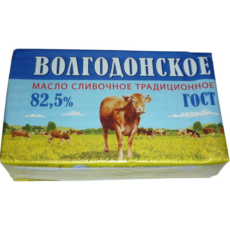 Масло сливочное Волгодонское 82, 5% ГОСТ Белый Медведь, 420гр