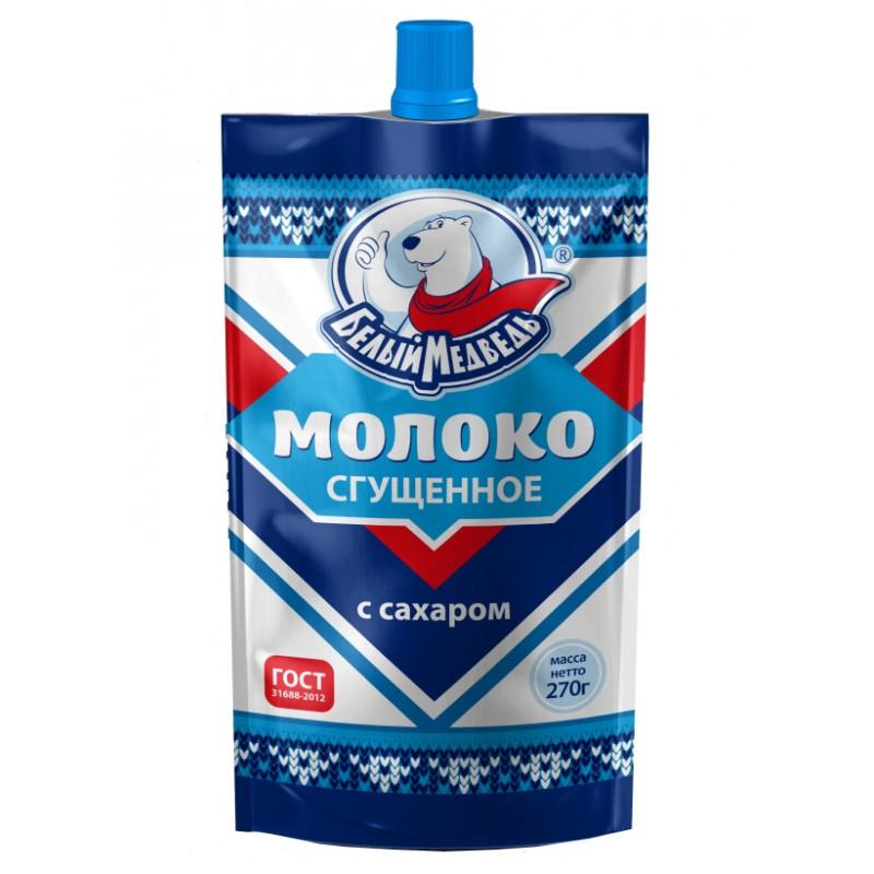 Сгущеное молоко 8, 5% жирности Белый Медведь, 270гр