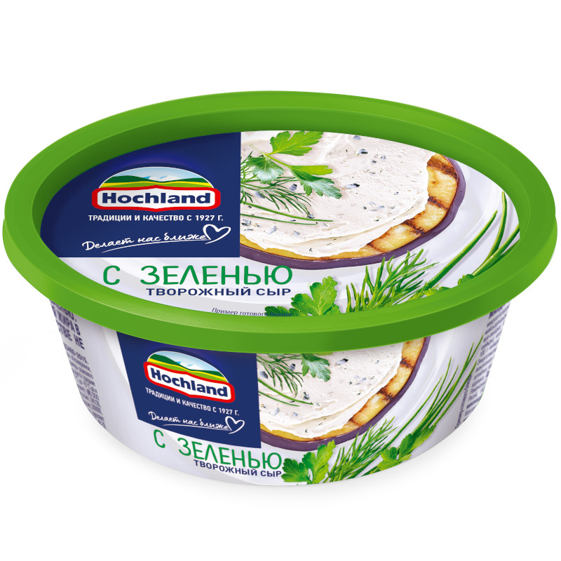 Сыр творожный Hohland с зеленью, 140гр