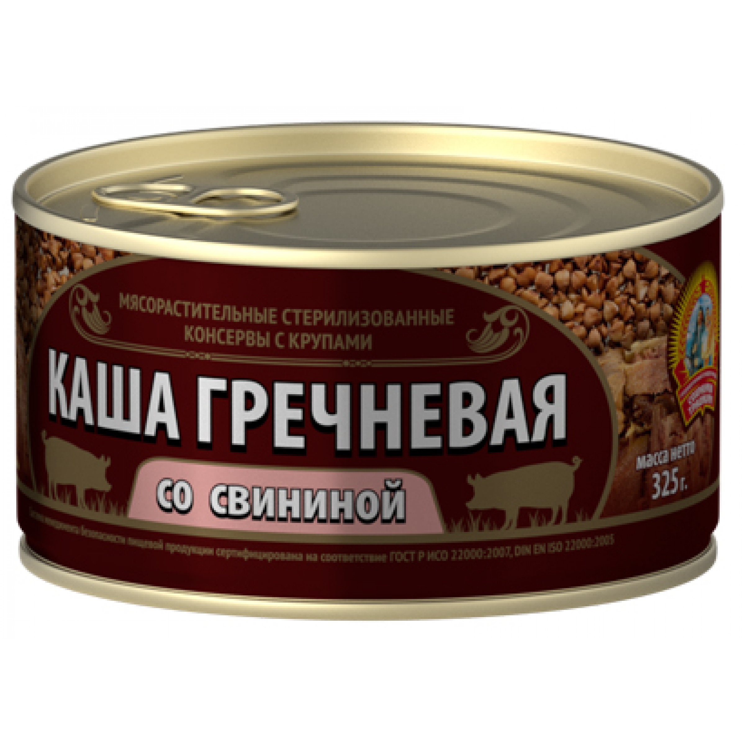 Каша Гречневая со свининой КТК, 325гр