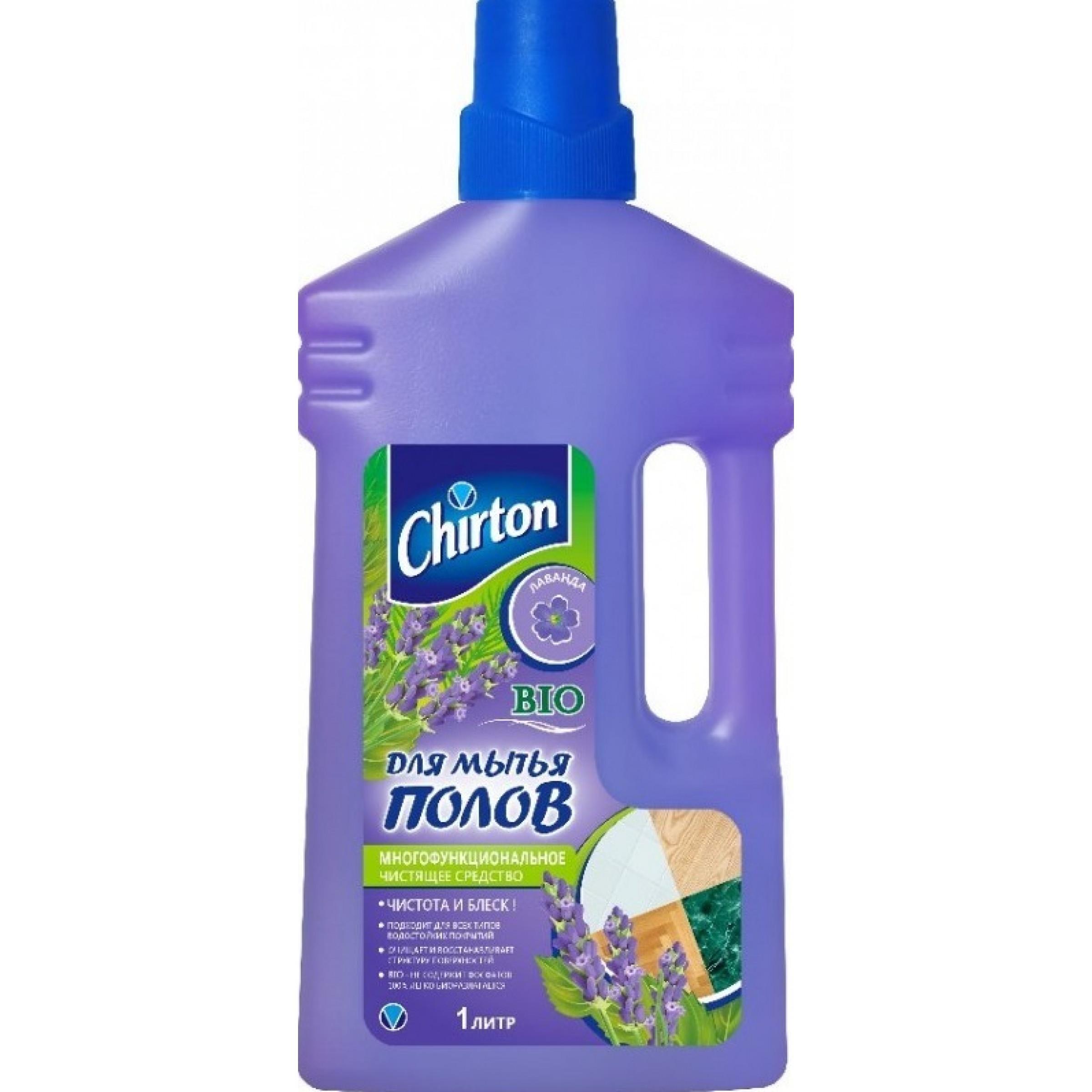 Средство чистящее для мытья полов CHIRTON Лаванда,1л