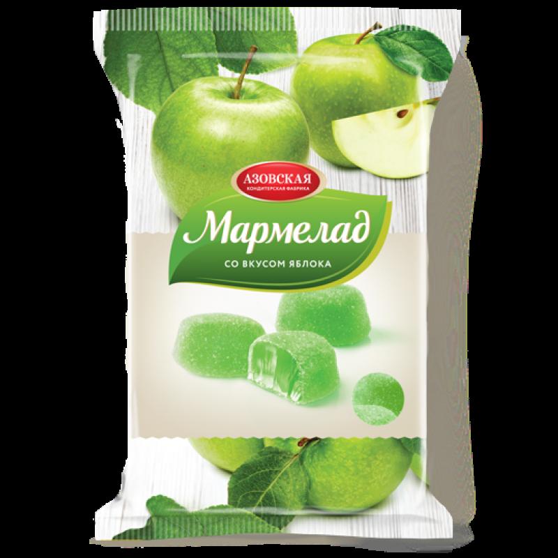 """Мармелад желейный со вкусом """"Зелёное яблоко"""" Азовская кондитерская фабрика, 300гр"""