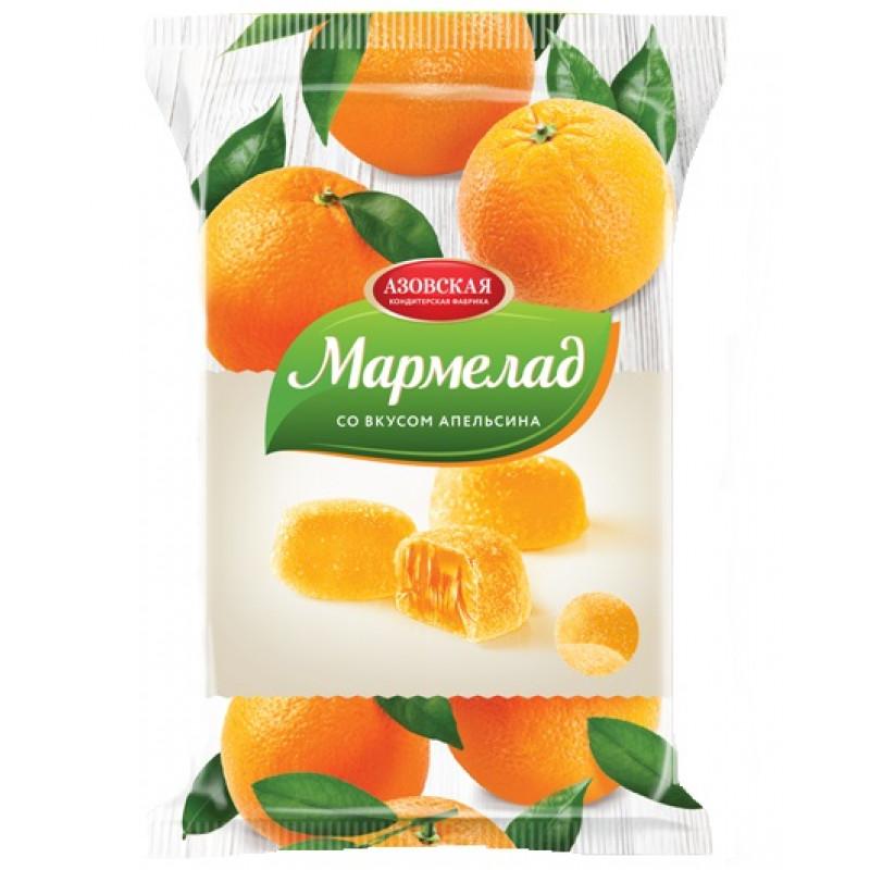 """Мармелад желейный со вкусом """"Апельсин"""" Азовская кондитерская фабрика, 300гр"""