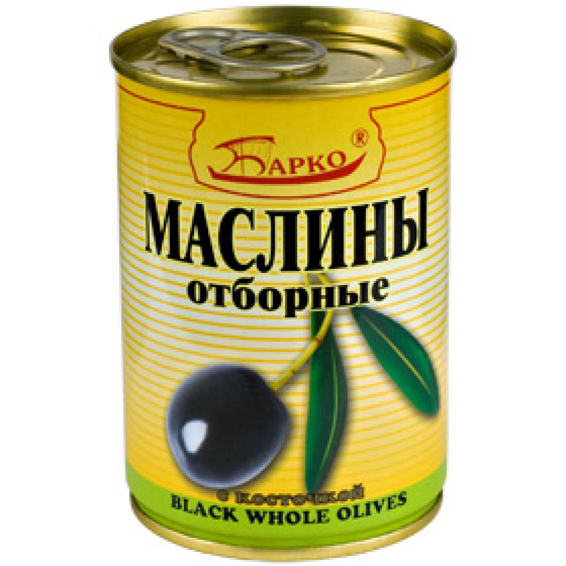 """Маслины с косточкой """"БАРКО"""", 280гр"""