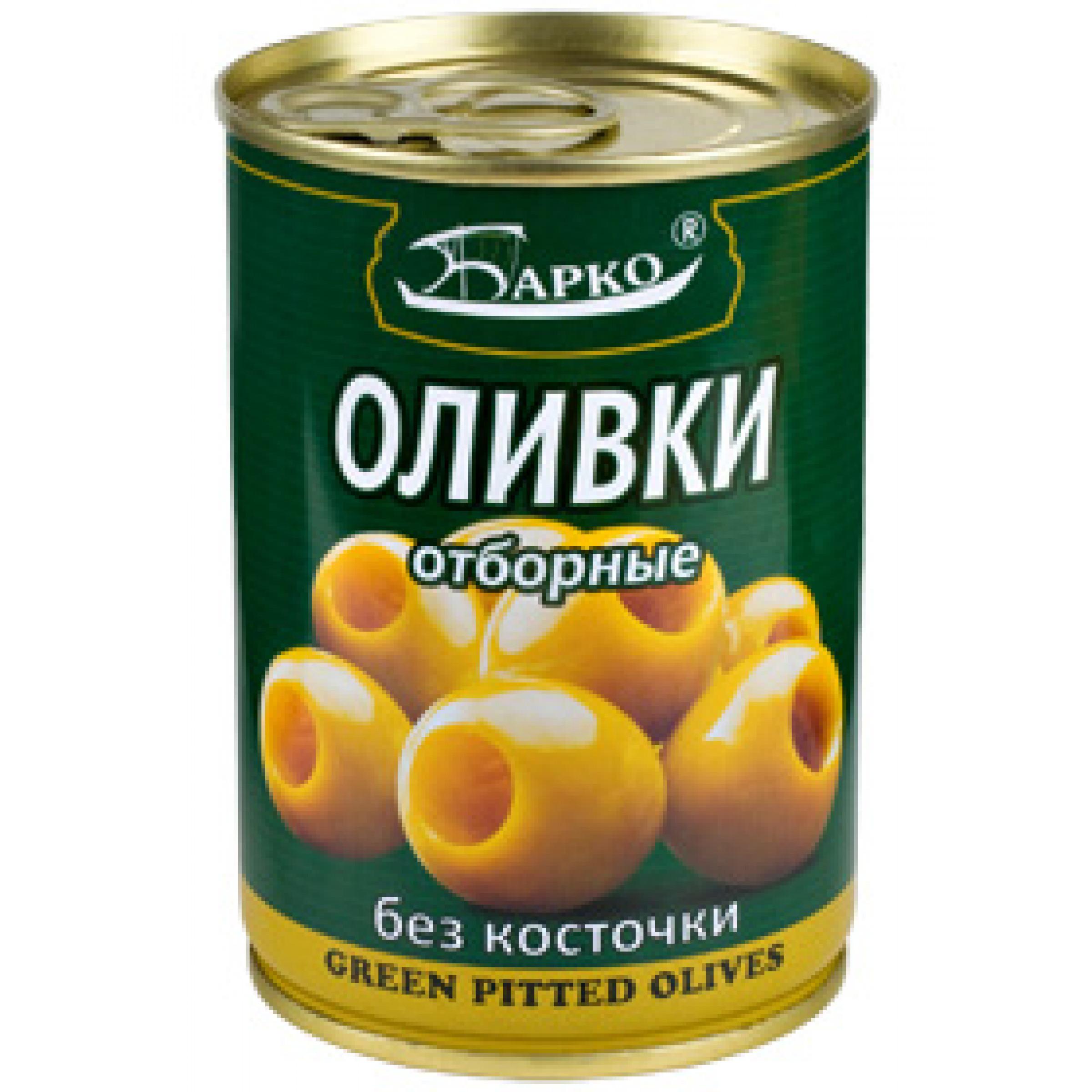 """Оливки без косточки """"БАРКО"""", 280гр"""