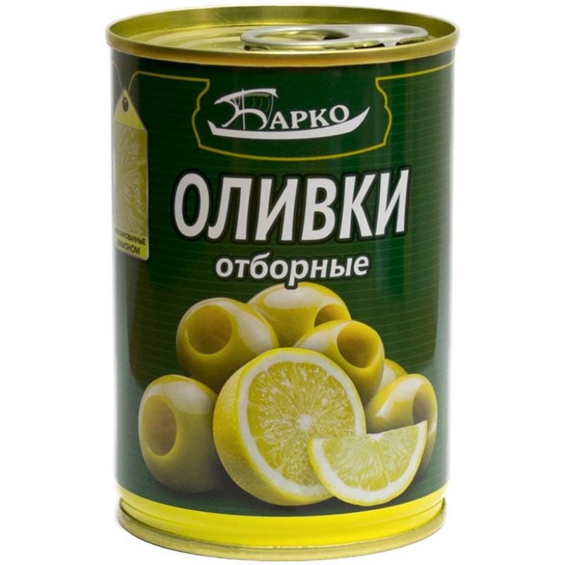 """Оливки фаршированные лимоном """"БАРКО"""", 280гр"""