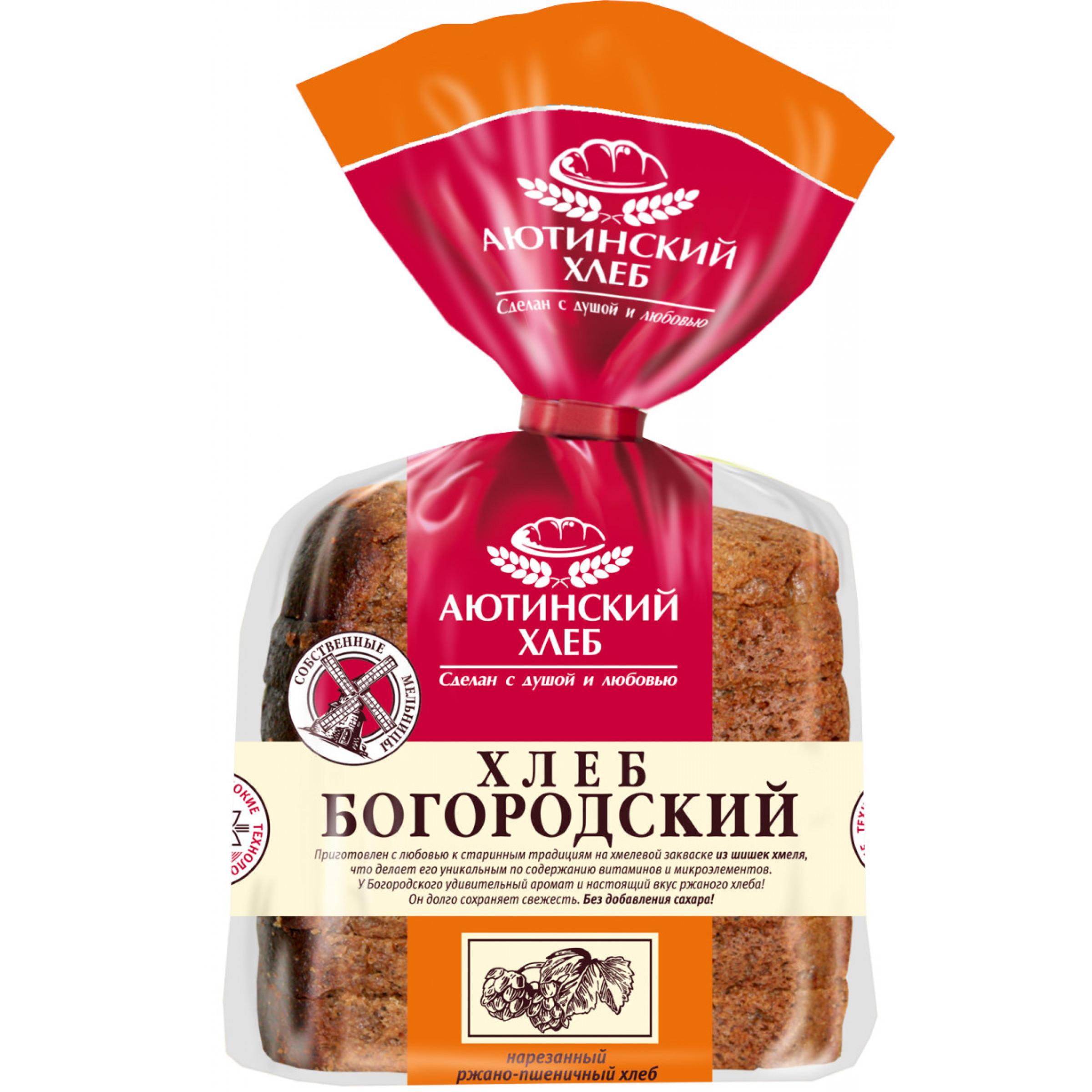 """Хлеб """"Аютинский"""" Богородский серый ржано-пшеничный нарезанный, 330гр."""