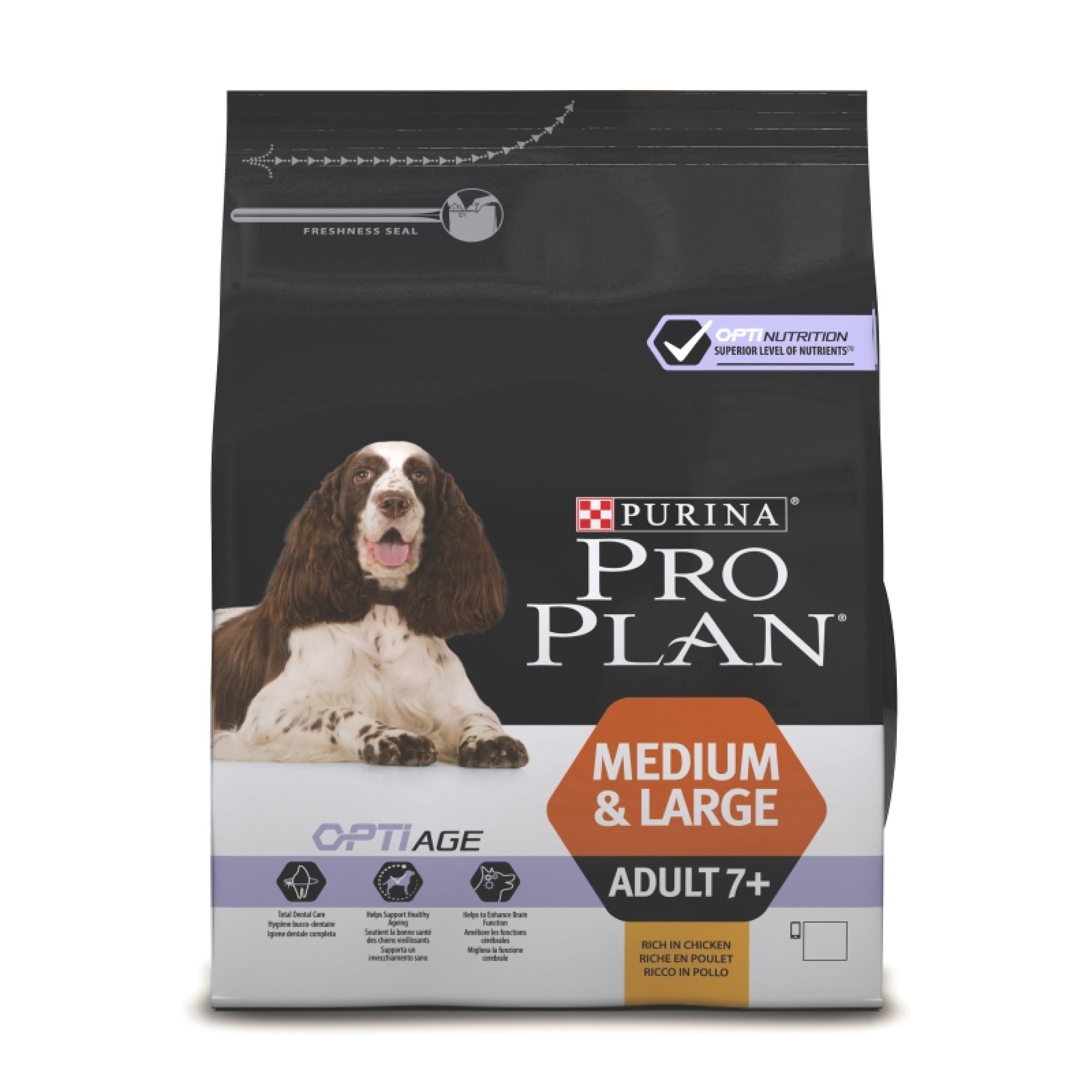 Сухой корм PRO PLAN® OPTIAGE® для собак старше 7 лет средних и крупных пород, 3кг