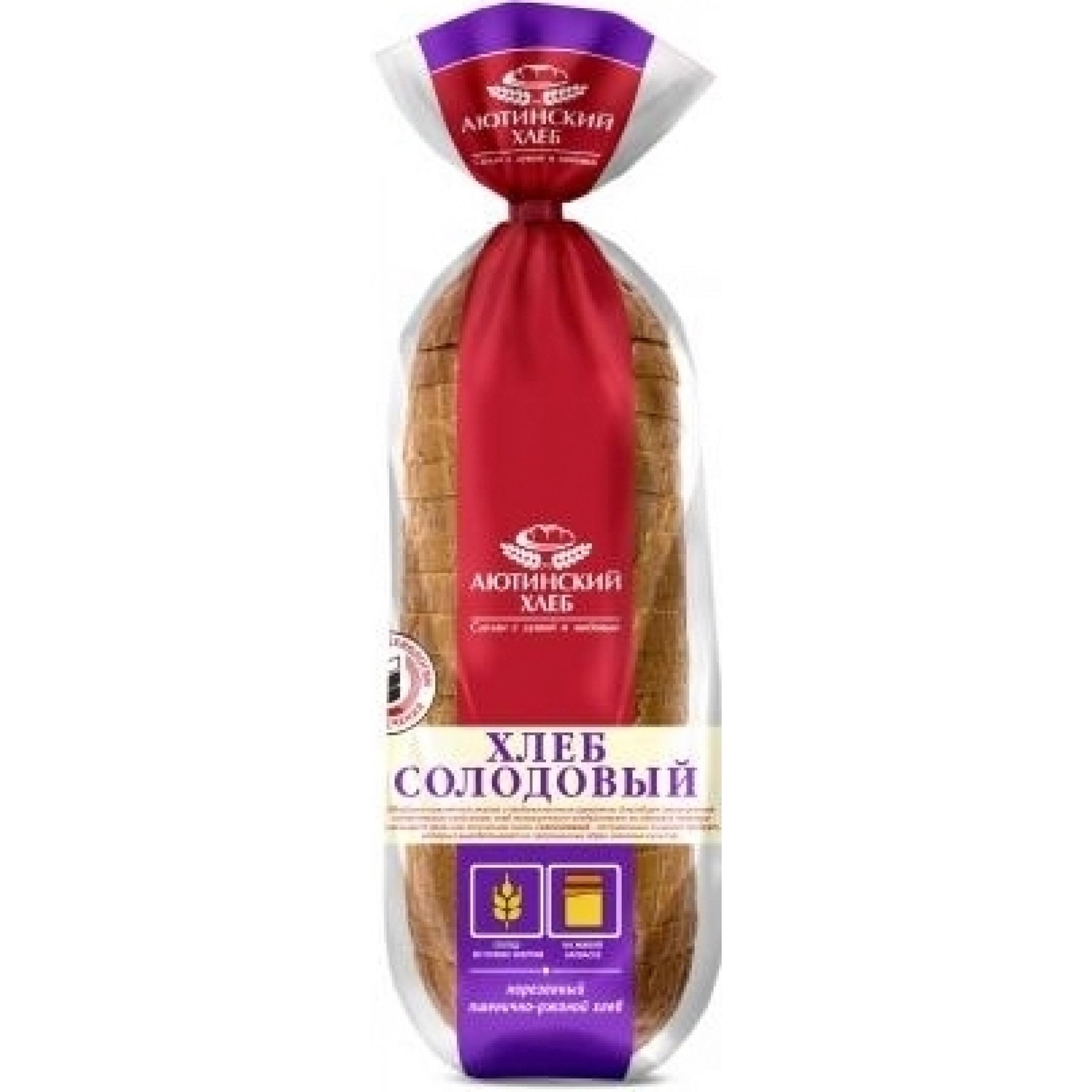 """Хлеб """"Аютинский"""" Солодовый пшенично-ржаной нарезанный, 380 гр."""