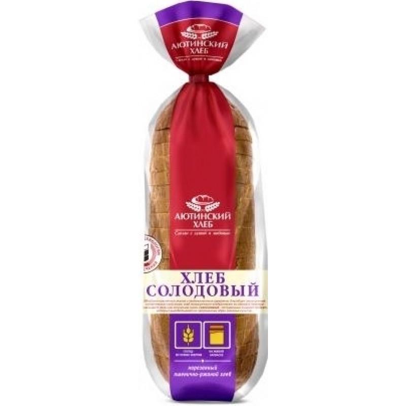 """Хлеб """"Солодовый"""" пшенично-ржаной нарезанный Аютинский, 380гр"""