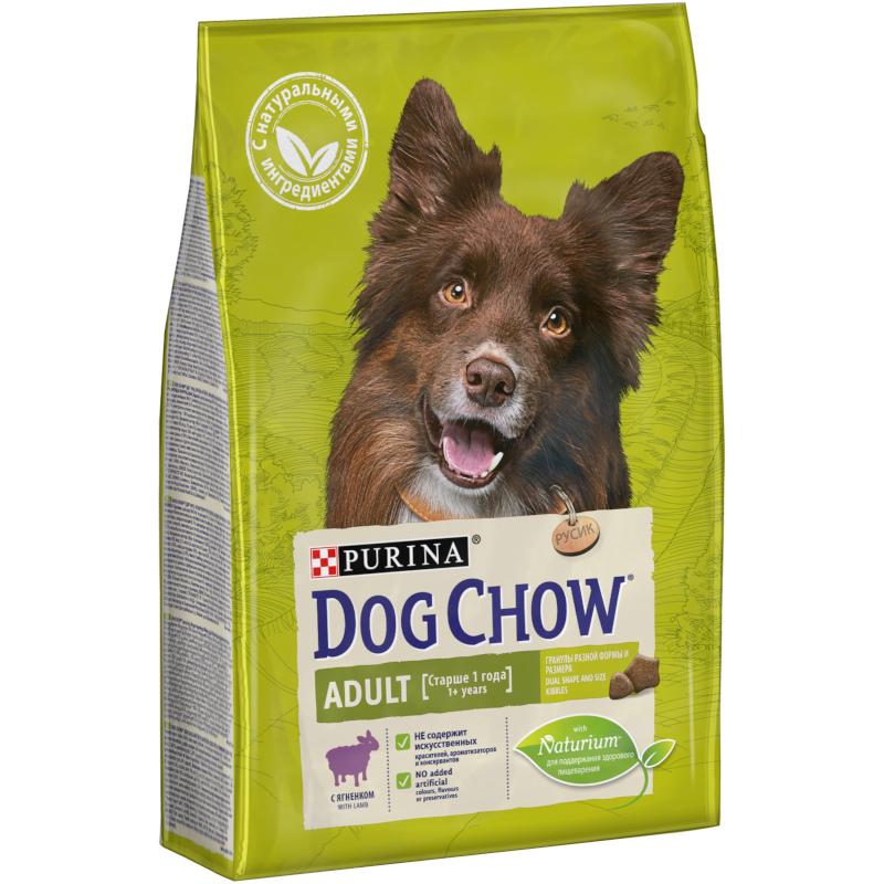 Корм сухой DOG CHOW Adult с ягненком для взрослых собак, 2. 5 кг