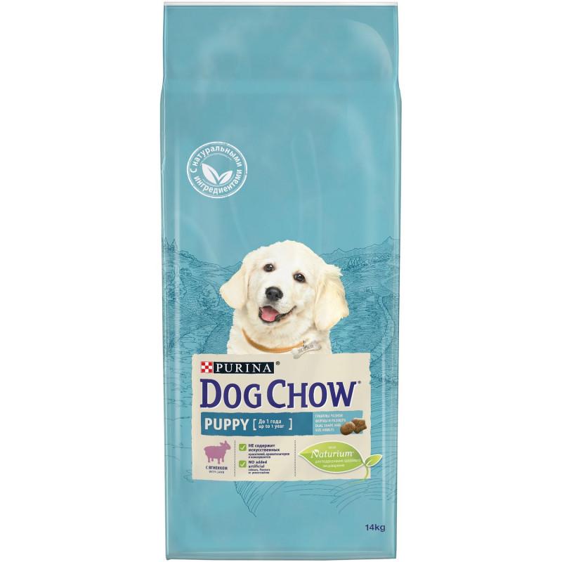 Корм для щенков Dog Chow с ягненком и рисом, 14 кг