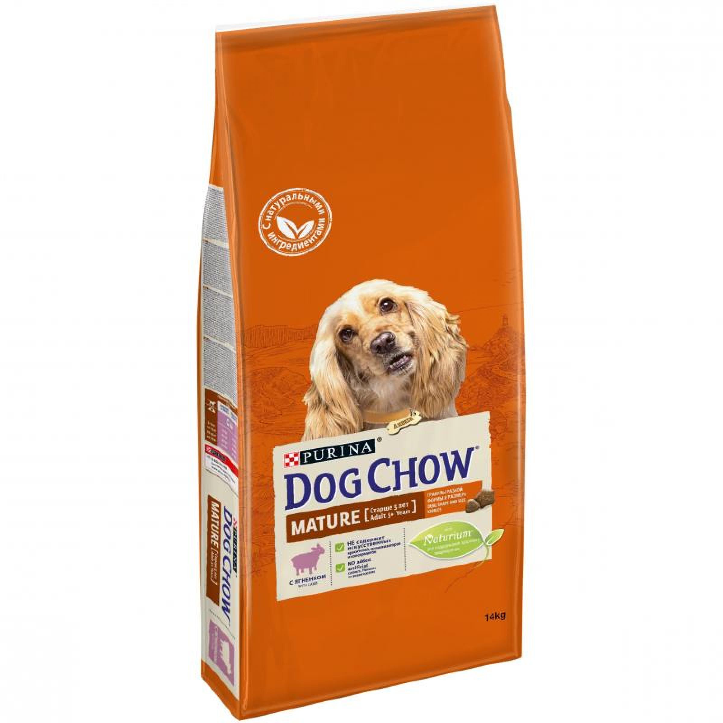 Корм Dog Chow Adult для взрослых собак с ягненком, 14кг